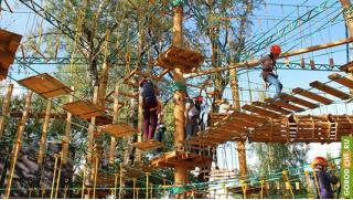 Купоны для детей в Москве! Скидка 74% на посещение веревочного парка от компании «Тур-Сафари»! Для детей и взрослых!