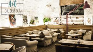 Все меню и напитки в кафе-ресторане ART CLUMBA на «Чкаловской» со скидкой 50%! Приходи с друзьями и веселись!
