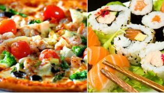 Выбирай что хочешь-пицца, суши или осетинские пироги! Скидка 50% на все от Corleone food!