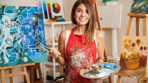 Рисуем жидким акрилом! Мастер-класс Fluid art со скидкой 57% для компании до 4-х человек от арт-студии Vailet!