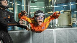 Летаем в любой день! Полет в аэротрубе в крытом аэродинамическом комплексе «Свободный полет» со скидкой 51%