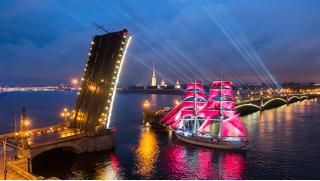Автобусные туры! Праздник «Алые паруса» в Санкт-Петербурге или праздник закрытия фонтанов на выбор! Скидка 44%!