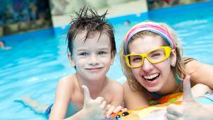 Аквапарк купоны! Целый день в аквапарке Аква-Юна серфинг, горки, водопады, гейзеры, бильярд, сауна для взрослых и детей!