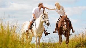 Скидка 67% на конную прогулку в поле и в лесу для 1 или 2 человек и фотосессию от частного конного клуба «Усадьба»