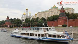 Прогулка на теплоходе по Москве-реке от судоходной компании «Алые паруса» со скидкой 60%! Всего от 250 руб за человека!