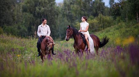 Скидка 70% на конную прогулку в клубе «Усадьба» в Марфино!