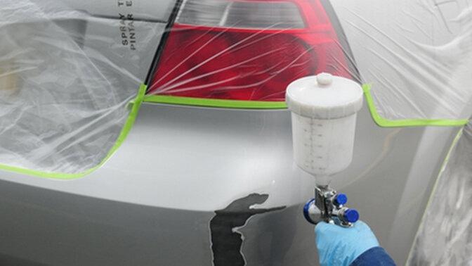 Покраска элемента кузова автомобиля своими руками